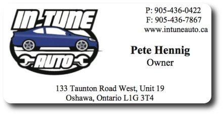 In-Tune Auto company