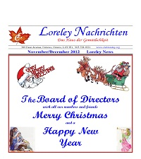 Click here to download November to December 2012 Newsletter